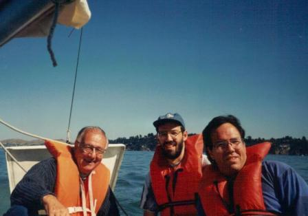 My Dad and my brothers sailing on San Francisco Bay in the late '80s